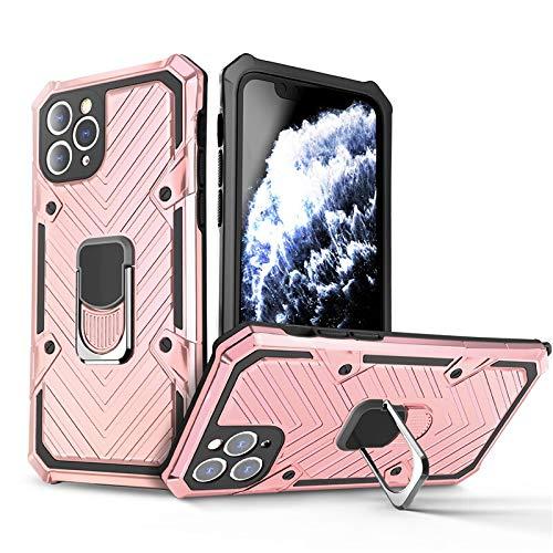 HHF - Teléfono móvil con accesorios para iPhone 12 Pro Max 12 Mini, armadura parachoques antigolpes, soporte con anilla, funda de protección para iPhone 11 Pro Max