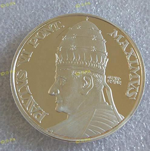 Yoin Vatikan Papst Paul VI. Silbermedaille Münze Gedenkmünze Andenken Metallhandwerk