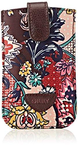 Oilily Damen Smartphone Pull Hülle Taschenorganizer, Rot (Burg&y 822), 9x14x1 cm