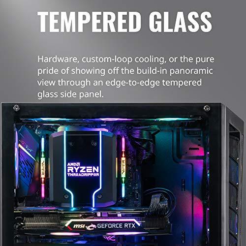 Cooler Master MasterBox MB511 RGB - ATX-PC-Gehäuse mit Mesh-Front, 3 x 120 mm vorinstallierten Lüftern, Glasseitenwand, flexiblen Luftstromkonfigurationen
