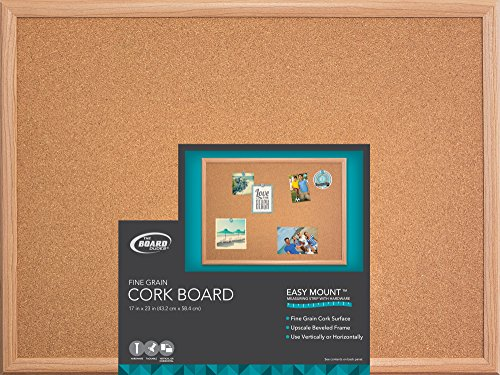 "The Board Dudes Cork Board - Wood Frame 22"" x 18"""