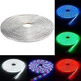 Luces decorativas 15M 5050 SMD LED impermeable al aire libre de la cinta flexible cuerda de la tira de Navidad Luz - RGB 220V (Color : Blanco cálido)