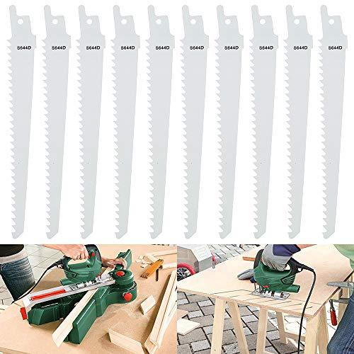 Hoja de sierra de sable profesional para madera y plástico, 10 unidades, compatible con Bosch Dewalt Makita Hitachi Black&Decker Metabo AEG