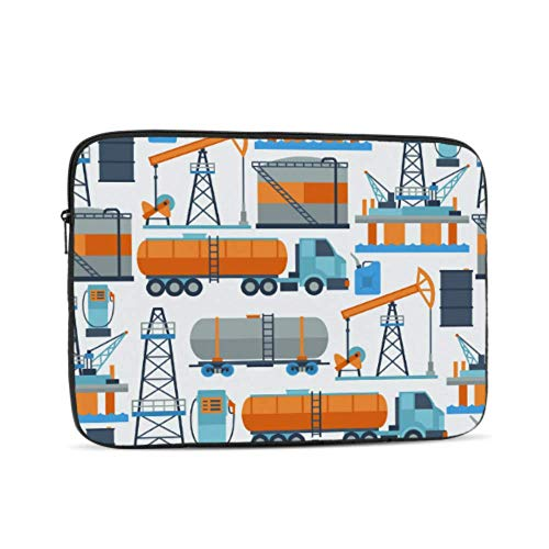 MacBook Pro Case 2015 Retro Old Graphic Gas Station Grunge MacBook Air Accessories Multi-Color & Size Choices 10/12/13/15/17 Inch Computer Tablet Briefcase Carrying Bag