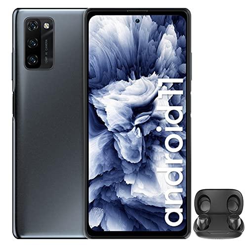 Smartphone Offerta del Giorno 4G, Blackview A100 Android 11 Cellulari Offerte con 6GB+128GB, Helio P70 Octa Core, 6.67''FHD+,4680mAh Batteria 18W, 12+8MP, NFC Dual SIM Telefono Cellulare-Nero