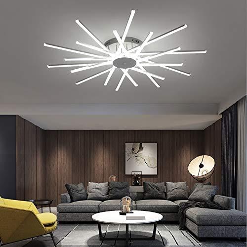 YUQIYU Habitación moderna iluminación de la lámpara Led for estar Dormitorio Cocina del restaurante de techo Lámparas de color blanco las luces colgantes cubierta (Emitting Color : Cool White)