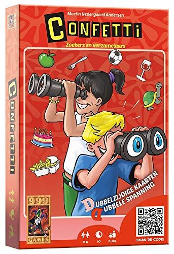 999 Games 999-Cft01 Confetti Kaartspel Kaartspel, Multikleur
