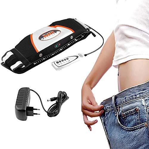 ZZQH Vibration Heating Abnehmgürtel, Massage Gürtel, Elektrischer Körpermassager, 5 Modi Fettverbrennung Für Rücken/Gesäß/Beine/Oberschenkel/Taille