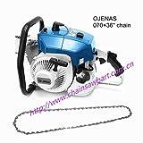 Jie Li Gas-Powered MS 070 Chain Saw 2 Stroke 105cc 4.8KW with 36-Inch
