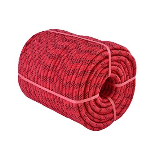 LIIHSG Seile 12mm Kletterseil Polyestermaterial Gewebt Fest Fest Haltbar Verschleißfest Anti-Aging-Fähigkeit Stark 7 Arten von Farben (Size : 30m)