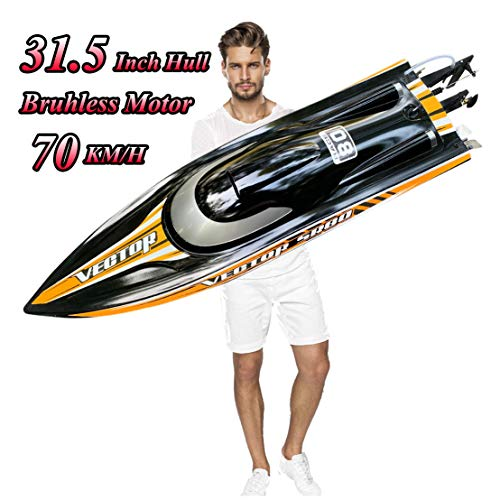 Large Remote Control Speedboat for Adults, S2.0 Pro RC Brushless Boat...