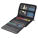 Kit de herramientas de dibujo de lápices de dibujo en color de 95 piezas con lápiz de color lápiz de grafito borrador de lápiz de carbón