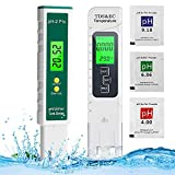 Medidor pH, Digital Medidor de TDS EC Temperatura pH 4 en 1,Calidad del Agua Medidor de Prueba con Rango de Medición de pH de -2-16 PH, Medidor pH agua para Agua Potable Piscina Acuario Piscinas
