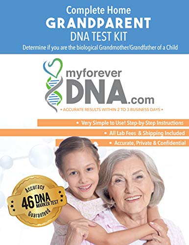 Grandparent DNA Test Kit Most Advanced & Accurate-46 DNA (Genetic) Marker Test All Lab Fees Included Offered by My Forever DNA