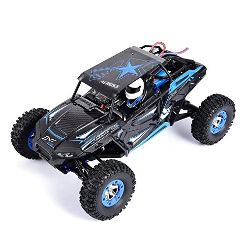 s-idee® 18112 S12428-B RC Auto Buggy Monstertruck 1:12 mit 2,4 GHz 50 km/h schnell, wendig, voll digital proportional 4x4 Allrad WL Toys ferngesteuertes Buggy Racing RC Auto