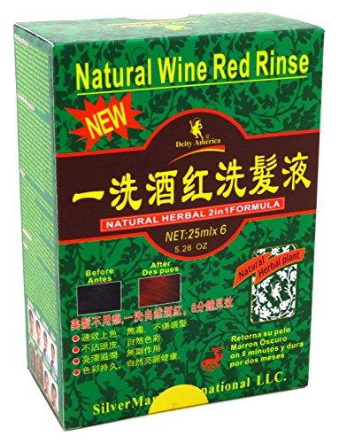 Deidad Champú Kit de cambio de color natural herbl 2N1vino rojo