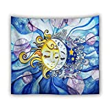 Psychedelic Tarot Card Sun Moon Tapiz Decoración del hogar Sala...