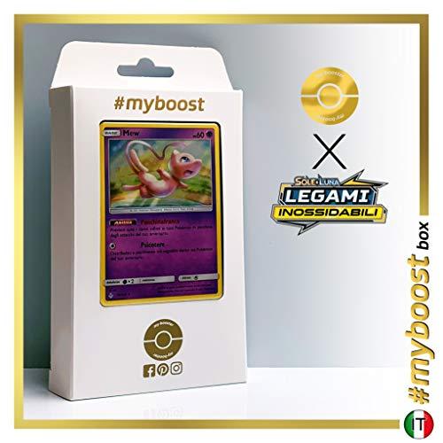 Mew 76/214 Holo - #myboost X Sole E Luna 10 Legami Inossidabili - Coffret de 10 Cartes Pokémon Italiennes