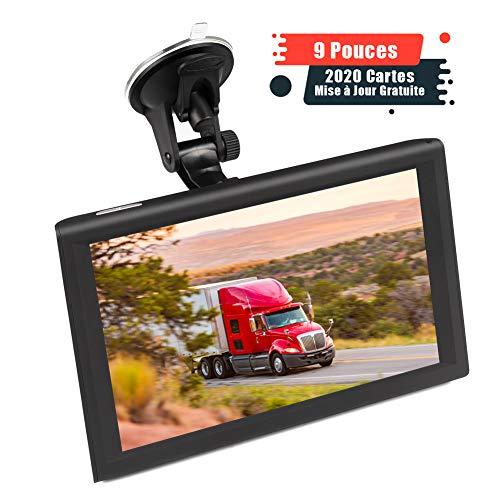 Aonerex 9' GPS Voiture Auto Navigation Écran Tactile Cartographie Europe 52 Pays Mise à Jour...