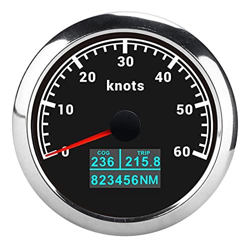 Tacómetro GPS 3 en 1 COG TRIP Display 60 nudos IP67 Impermeable para coches, camiones, barcos 9-30VDC(negro)