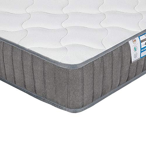 Yaheetech 4ft6 Double Mattress, Pocket Sprung Mattress with Memory Foam and Tencel Fabric - Orthopaedic Mattress with Individually Wrapped Spring - Medium Firm Feel - Thickness: 22CM/8.7Inch