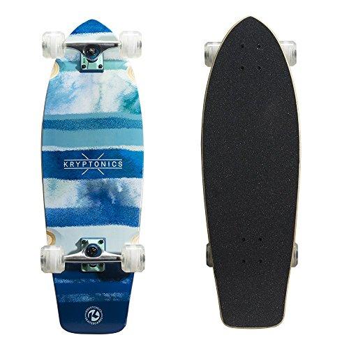 "Kryptonics Super Fat Wide Cruiser 30.5"" Complete Skateboard, Blue Fish"