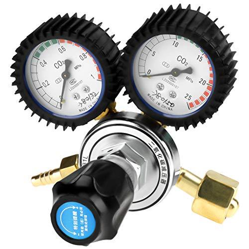 CO2 Regulator, CO2 Pressure Reducer Dual Gauge Gas Bottle Regulator, Carbon Dioxide Welding Pressure Reducer