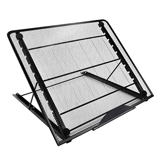 Mlife Large Size Light Pad Stand - Adjustable Light Box Laptop Stand, 9 Angles Non-Skidding Metal Holder for A3 B4 A4 LED Tracing Box & Diamond Painting Light Pad