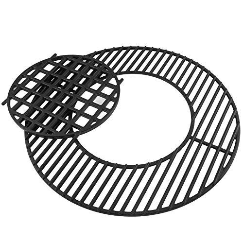WELL GRILL Aufklappbarer Grillrost für 57 cm Weber Holzkohlegrills und alle anderen 57 cm Grills mit dem Gourmet BBQ System Grill, Wok und Sear Rost