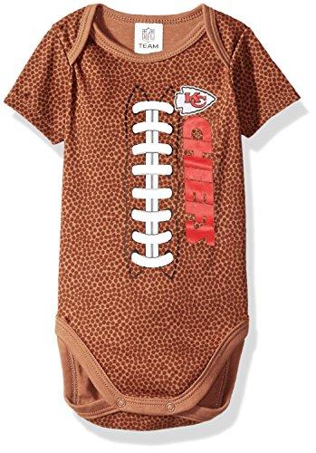 Gerber Childrenswear NFL Kansas City Chiefs Boys Football Bodysuit, 3-6 Months, Brown