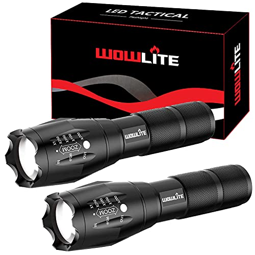 LED Torch Flashlight, Wowlite 1600LM Ultra Bright Tactical Flashlight...