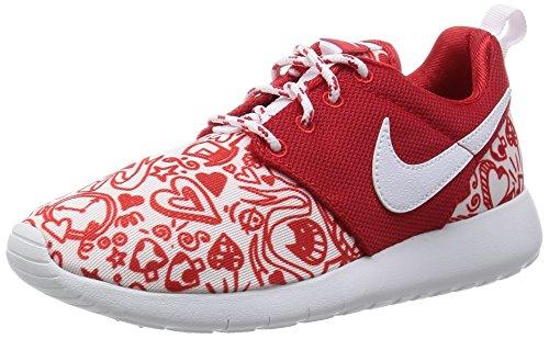 Nike Roshe One Print (GS), Scarpe da Ginnastica Bambina, Rosso (University Red/White-Black), 38 EU