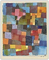 Paul Clay 《Room Architecture》Watercolor Canvas Oil Painting Interior Geometric Poster Painting Cubism Wall Painting Decoration Home Decor 50x60cm No Frame