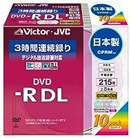 Victor 映像用DVD-R 片面2層 CPRM対応 8倍速 カラープリンタブル 10枚 日本製 VD-R215CX10