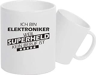 Shirtstown Taza de Cerámica, Taza, Super Héroe para Besten Profesión del Mundo, Colega, Job - Electrónico Superheld, 330 ml