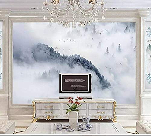 Life Accessories Custom Wallpaper Nordic Rresh Rorest Landscape Design TV Background Wall Living Room Bedroom Mural 3d Wallpaper Photos Mountain 200x140 cm (78.7 by 55.1 in)
