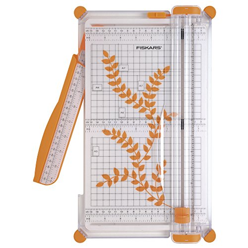 Fiskars SureCut Plus Cizalla de papel personal, 30 cm, A4