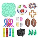KEYDI 22 Pcs Juguetes Sensoriales para El Autismo Kit Paquete De Juguetes Sensoriales Sensory Fidget Toys Set Pack Juego De Juguetes Sensoriales Fidget Stress Relief Toy para Adultos, Niños