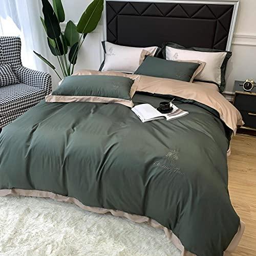 Bedding-LZ bettbezug 180x200cm,Sommerseide Skil Seidentücher verkauft vierteilige Bettwäsche-Ö_1,5 mbett (4250 cm 230 cm) 455 * 250 cm
