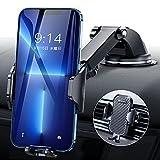 【2021改善型】DesertWest 車載ホルダー 片手操作 2in1 スマホホルダー 粘着ゲル吸盤&エアコン吹き出し口式兼用 スマホスタンド 車 携帯ホルダー iphone 車載ホルダー 取り付け簡単 360度回転 伸縮アーム ワンタッチ 手帳型ケース対応 自由調節/日本語説明書付き/4-7インチ全機種対応 iPhone/Sony/SHARP/Samsung/Xiaomi など