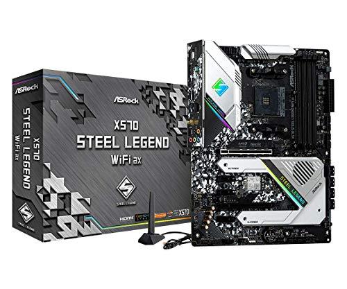 ASRock X570 Steel Legend WiFi AX AM4 AMD X570 SATA 6GB/S ATX AMD Motherboard