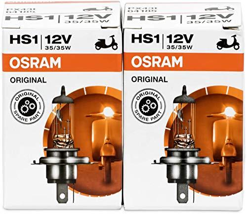 2x Osram Halogen-Lampen 64185HS112V 35/35W PX43T High Tech, Longlife, für Motorrad, Fahrrad, UV-Filter, serienmäßig, versiegelt