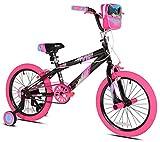 Kent 18' Sparkles Girls Bike, Black/Pink Summer Toy Kids Outdoor Play