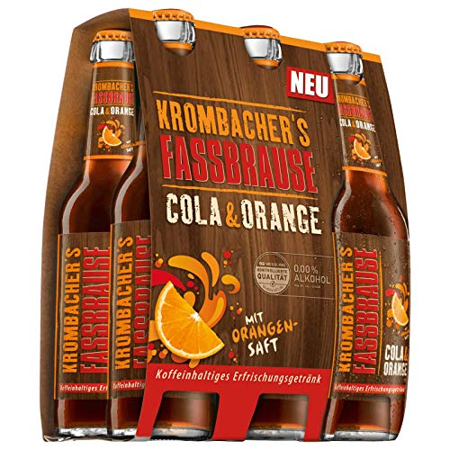 6 Flaschen Krombacher Fassbrause Cola Orange a 330ml inclusiv 0.48€ MEHRWEG Pfand Bier inc. Pfand