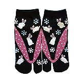 Samurai Market - Calcetines de taburgo japonés, diseño Extreme Orient Collection 4 Conejo de invierno Talla única