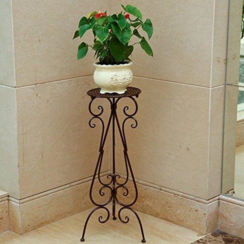 Stand de Fleur/Plante Stand de métal Floral Stand de Stockage de Jardin intérieur/extérieur (Blanc) (Color : 2, Size : 60cm)