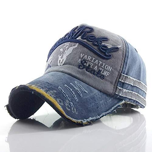 LGOO1 Algodón retro lavado casquillos for hombre gorros regalo de cumpleaños de la gorra de béisbol del sombrero del Snapback Gorra bordado de la letra Snapback ajustable Bone...