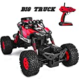 Rainbrace Remote Control Car RC Toy 4WD Off Road Monster Truck Crawler with Dual Motors Big Remote Control Truck Toy for Boys Gift