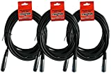 Strukture 3 Pack XLR Microphone Cable, 20 Feet,...