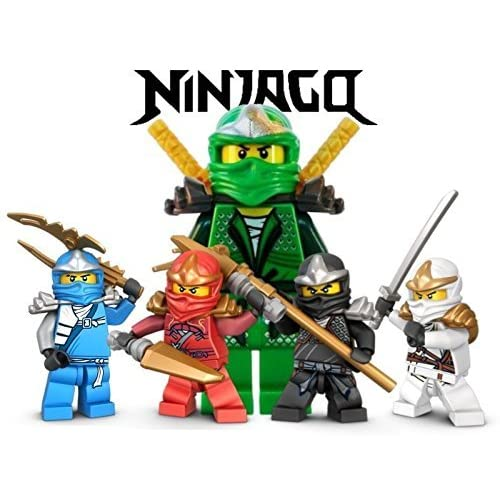 Ninjago Lego Fighting Warriors 1 4 Sheet Edible Photo Birthday Cake Topper Frosting Personalized